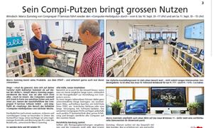 Zeitungsartikel Herbstputz 2021 Regionalanzeiger